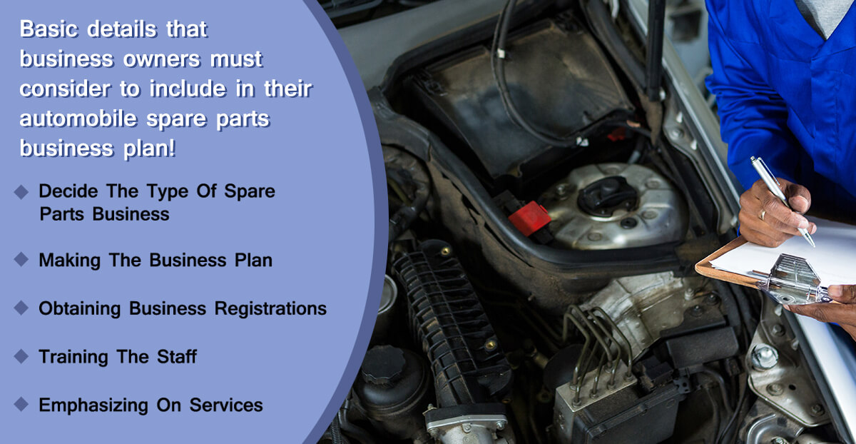 how to start automobile spare parts business