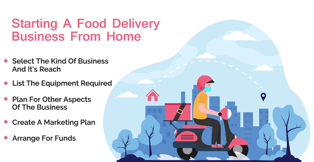 how to start a food delivery business from home